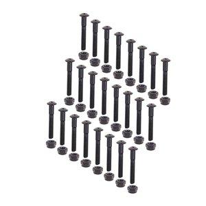 24 개 PC를 롱 보드 스케이트 보드 크루저 하드웨어 나사 장착 볼트 세트 (1.22inch)