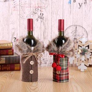 2 abrange estilo garrafa vinho tinto de Natal Set festa de Natal Indoor Tabela Decoração Creative vinho para Hotel DHB1427