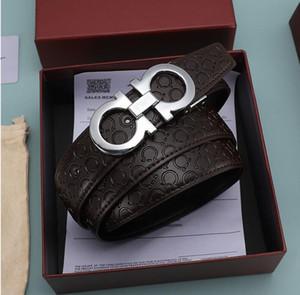 2020 de cuero cinturones de diseño de la correa hombres mujeres hombres cinturones carta de verdad mejor calidad de la correa nuevos mens cinturones de negocio + caja de envío libre