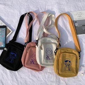 Fashion Women Canvas Bags Shoulder Bags 2020 New Arrival Female Students Messenger Bags Casual Soft Zipper Canvas Handbags