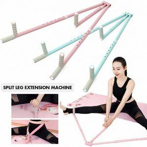 3 Dispositivo Bar Pierna Camilla Extensión de Split Máquina de acero inoxidable de la pierna del ligamento de la yoga del ballet del entrenamiento del ejercicio Equipo ROSA swsl #