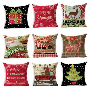 45 * 45cm di Natale del fiocco di neve federa Capodanno decorazione Babbo cuscini casa divano federa Xmas copertura del cuscino 50pcs T1I2300