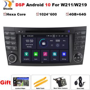 E sınıfı W211 E200 E220 E300 E350 E240 E270 E280 CLS CLASS W219 için PX6 DSP IPS 4G + 64G Android 10 araç DVD oynatıcı