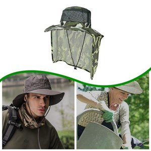 Outdoor sun protection hat Face Neck Flap UV Protection Camouflage Sun Cap With Mask Headband Hat Outdoor Sport Bucket