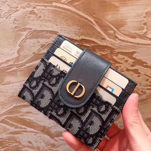 mens titular de la cartera de tarjeta para mujer titulares de tarjeta de identificación de lujo titular de cuero monederos negro pequeño monedero de las carteras de lujo NB656