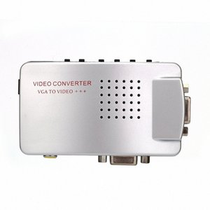 PC Converter Box VGA To TV AV RCA Signal Adapter Converter Video Switch Box Composite Supports NTSC PAL For Computer ykYY#