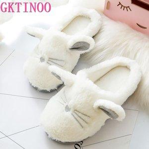 GKTINOO Chat mignon hiver Femmes Pantoufles pour intérieur Chambre douce peluche Bas Slipper coton chaud chaussures Maison cadeau de Noël