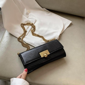 Lizard Pattern Small PU Leather Crossbody Bags New Fashion Chain Female Shoulder Handbags for Women Mini Ladies' Travel Flap Bag