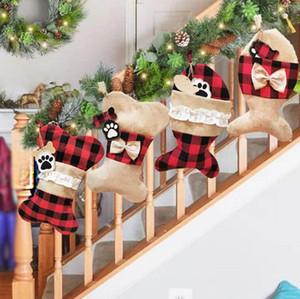 Creative Bas de Noël Sac cadeau de Noël ornement pour arbre enfants Candy Bag Noël Prop Chaussettes Décoration de Noël