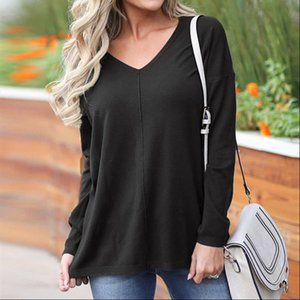 Long Knitted Sweater Women Autumn Winter Sweater Knitting Pullovers Sexy Female V neck Top Casual Loose Pure Jumper Pull Femme