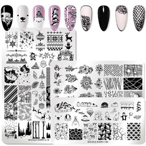 Big Size prego Estampagem Placa Floral Animal Flower Tropical Geometry Pattern unhas Stamp Art imagem Moldes Ferramenta Stencil