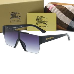 mens gafas de sol nuevo estilo Gafas naturales genuinos rayas verticales en blanco y negro cuerno de búfalo sin montura gafas de sol Burberry