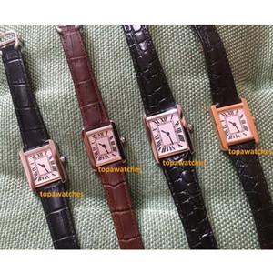 Orologi Top donna della moda di New carro Series Gold Watch 32 millimetri 27 millimetri 24 millimetri Womens Real Leather Quartz Montres ultra sottile 8014 da polso