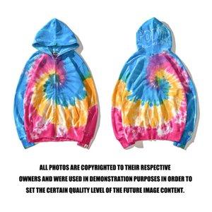 2020 scimmie uomini maglione sport all'aria aperta moda hoodie a maniche lunghe giacca di hip-hop stile lettera della stampa del fumetto camouflage bagliore c1