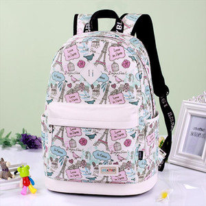 School Bags Printing Backpack Canvas Bag Fashion Backpack School Bags For Teenagers Durable Laptop Backpack Travel Bag