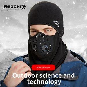 Новая зимняя езда на велосипеде на открытом воздухе маски ветрозащитной теплый головной убор Теплый головной убор Bicycle головной убор противотуманная маска утолщенной флиса антизамораживания