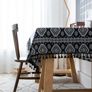 Asciugamano tessuto di cotone Ristorante Tovaglia Lijiang Inn Piazza a righe Divano Comodino copertura Tavolino Tavolo Tovaglia
