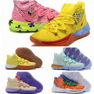 2020 Sponge x Kyrie 5 Pineapple House Herren-Basketball-Schuhe Irving 5s Graffiti Sue Frische Patrick Thaddäus Stern Sneaker Halten