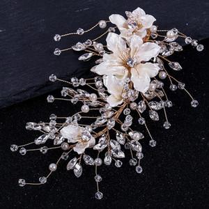 YRpLY Tuanming xinniang Blume Brauthandgewebte Hairpin Tuanming Hochzeit xinniang Schmuck Kristall Kristallkopfschmuck Blume haarnadel hea 3Lmxq