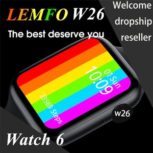 LEMFO W26 1.75 Inch 320*385 HD Screen Smart Watch 2020 PPG + ECG Body Temperature Bluetooth Call IP68 Waterproof Men Women SmartWatch