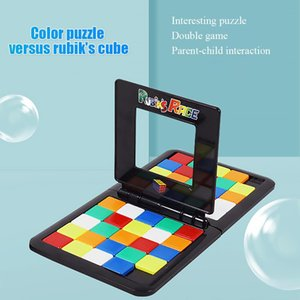 Parent-Child Interactive Colorful Battle Sport Game Puzzle Cube 3D Puzzle Race Cube Board Game Kids Adults Education Toy
