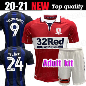 Adult kit 2020 2021 MIDDLESBROUGH 20 21 Soccer jersey Ashley Michael Fletcher 11 FLINT 24 WING 26 ASSOMBALONGA 9 home away football shirts