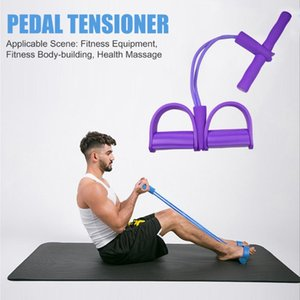 Fitness Training Sit-up Pedal Rally Yoga TPE Tension Resistance Bands Pull Rope Trainers Force Core Training Tool