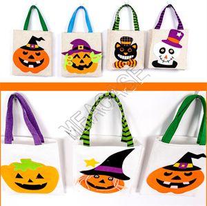 Halloween-Kinder Süßigkeit-Geschenk-Taschen Kinder tragbares Cartoon-Kürbis-Hexe Geschenk Handtaschen Jungen-Mädchen-Halloween-Kostüm-Party-Zubehör D81802
