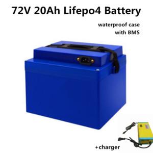 GTK alta qualidade 72V 20Ah Lifepo4 bateria batteryebike lítio com bloco BMS 2000W Eléctrica bicicleta Bateria + 87.6V 3A Carga