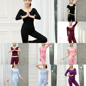 sette quarti di vestiti manica piazza Dance Fitness vestiti di ballo di yoga sport abbigliamento che coprono il vestito di yoga insieme three-piece delle donne