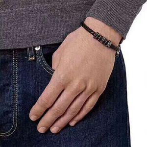 Moda corda di cuoio gioielli di perline braccialetto progettista fascino nobili paio di uomini e donne lo stesso braccialetto trasporto libero progettista bracele