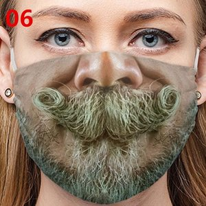 2020 NEW Funny Mouth Mask Cute Anti Dust Funny Teeth Mouth Mask Cartoon Face Emotiction Masque Washable Reusable Fashion Mouth Mask