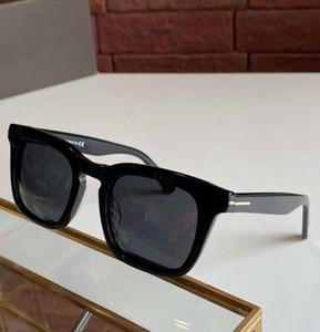 FT0751 Блестящие солнцезащитные очки Черные Мужские Линзы Очки Dax 751 Солнце Новые Шутки дыма Дым с поляризованным RVAIP