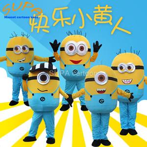 Habillement drôle de bande dessinée de film costume de mascotte minion pour les adultes de costume homme sur mesure jaune EVA pour les événements