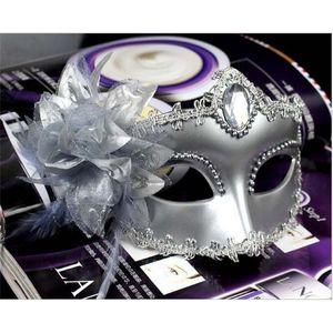 Runway Máscara O novo high-end Máscaras italianos Venetian Masquerade Party Princesa