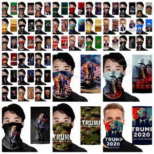 Máscara Trump Face Magic Lenço presidente americano Trump Eleição Bandana Dustproof exterior Scarf Headwear Partido Ciclismo Magia Máscaras RRA3484
