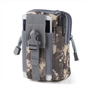 New Mens Nylon Waist Bag Waterproof Camouflage Fanny Pack Tactical Belt Bag Mobile Phone Case Durable Travel Bum Bag for Male