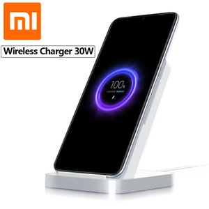 Original Xiaomi Vertical Air-cooled Wireless Charger 30W Max with Flash Charging for Xiaomi Mi 9 Pro 5G Mi Mix 3 For iPhone 11