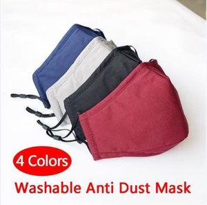 Lavável Anti Máscara de poeira à prova de vento Boca-de mufla Proof Cotton PM2.5 Máscara Boca Anti-embaçamento Mantenha Máscaras Cuidado facial quentes