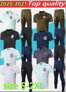 Europeu Cup2020 RONALDO Espanha Soccer Jersey camisas Polo 20/21 QUARESMA manga curta maillots de futebol curtas terno treinamento conjuntos S-2XL
