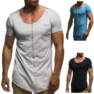 Fashion men extended t shirt longline hip hop tee shirts Mens clothes harajuku rock tshirt homme free shipping