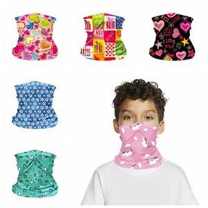 Los niños bufanda mágica del pañuelo de verano al aire libre cubierta de protección de la cara Niños Cuello muñeca Impreso Partido transporte marítimo de la venda de la correa Material IIA531