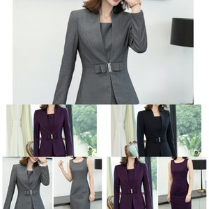 Suit Wfg5e mulheres de negócios formal elegante terno temperamento OL 2019 nova primavera vestido formal vestido e no Outono