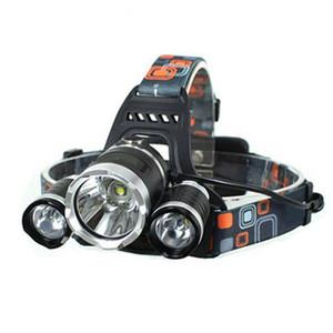 LED 전조 5000 3LED 10W 3 모드 5000LM 화이트 라이트 헤드 램프 블랙 LED 헤드 램프 + 18650 배터리 헤드 라이트 손전등 랜턴