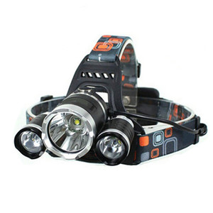 LED Feadlamp 5000 3led 10w 3-Modo 5000LM Luz branca Luz de luz de luz preto LED Teadlamp + 18650 Bateria Farol Lanterna Lanterna