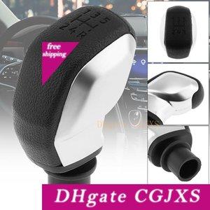 Manual de plástico ABS Negro de plata de cambio de transmisión de engranajes de balonmano Perilla para Citroen C2 C3 C4 Serie / Peugeot 5 Gear Modelos _30s Cia