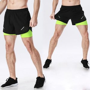 2 in 1 Shorts for Men Sports Shorts Jogging Sweatpant Fitness Gym Training Bottoms Running Cycling with Longer Liner