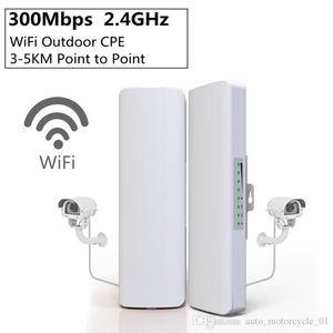 2pcs / lot 300 Mbps 2,4 GHz inalámbrico al aire libre Mini WIFI puente CPE punto de acceso WiFi Dual 2 * 14dBi WIFI Antena WIFI Red Puente HHA102