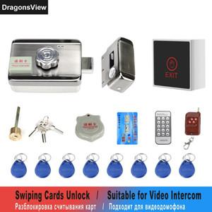 DragonsView Trava elétrica para Home System Access Control Kit Suporte Swiping Cartões Remote Control Unlock com 3A Potência