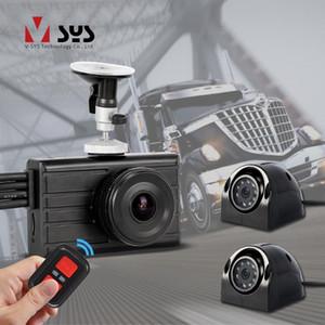SYS 3CH 1080P DVR Camión Dash Cam 3.0 '' monitor con impermeable infrarrojos de visión nocturna de camiones de copia de seguridad de la cámara 360 de visión trasera para el autobús de coches